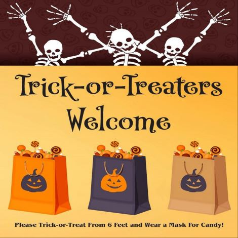 Trick or Treat Opt In House Sign